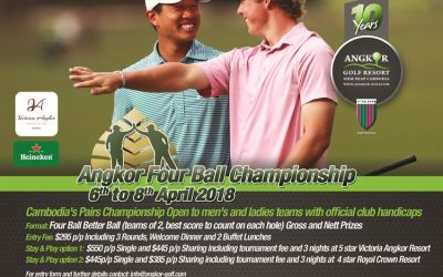 Angkor Four Ball Championship 6th to 8th April 2018
